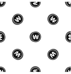coins wont pattern seamless black vector image