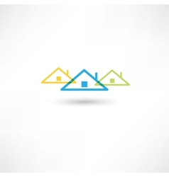 colored roofs vector image