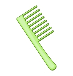 Comb icon cartoon style vector