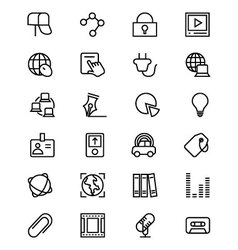 Communication line icons 5 vector