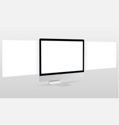Computer monitor with blank framework web pages vector