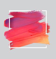 Craft label brush stroke backgrounds paints vector