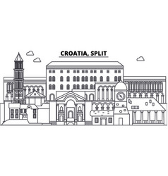 Croatia split line skyline vector