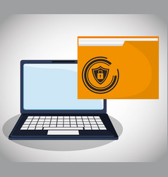 cyber security confidential information folder vector image