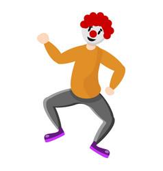 dancing clown icon cartoon style vector image