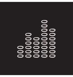 Digital equalizer sketch icon vector image