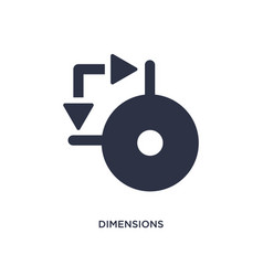 dimensions icon on white background simple vector image