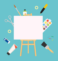 easel for painting workshop paint artists vector image