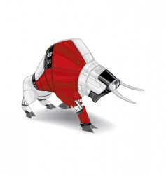 electronic bull vector image