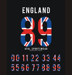 england set number textured flag vector image