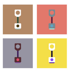 flat icon design collection piston and arrows vector image vector image
