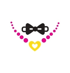 Flat web icon on white background necklace and tie vector