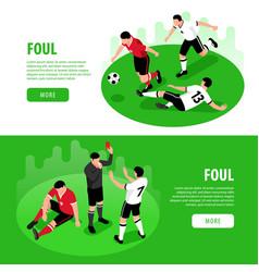 football foul horizontal banners vector image