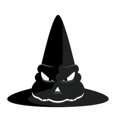 Halloween witch hat vector