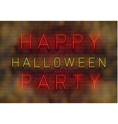 happy halloween neon vector image