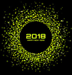 Happy new year 2018 card background vector