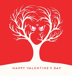 Happy Valentines Day Love birds vector