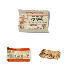 isolated object of ticket and admission icon set vector image