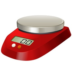 Lab scale with digital number vector image