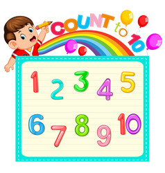 Lets count to ten vector