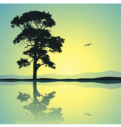 Lone tree vector