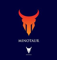 m letter based logo minotaur vector image