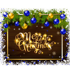 merry christmas cold lettering vector image