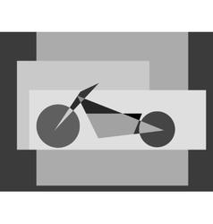 Motorcycle logo symbol vector image