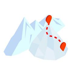 Mountaineering icon isometric style vector