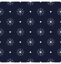 Pattern with snowflakes seamless vector