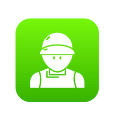plumber man icon green vector image