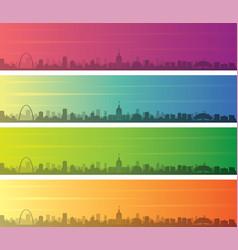 Saint louis multiple color gradient skyline banner vector