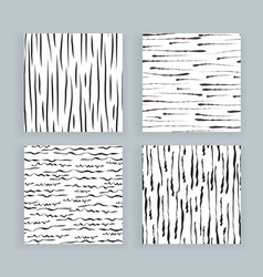 Set abstract samless patterns doodles lines vector