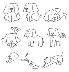 set of dog labrador retriever vector image