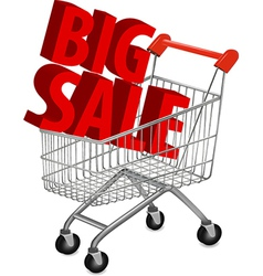 shopping cart house vector image