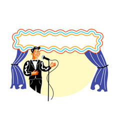 showman on stage flat vector image