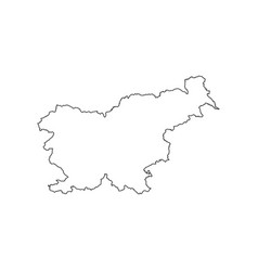 Slovenia map silhouette vector