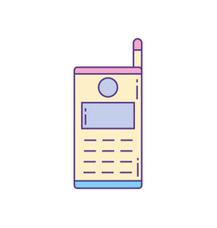 Smartphone antenna phone fill and line vector