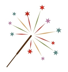 Sparkler flat icon vector