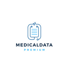 stethoscope medical data logo icon vector image