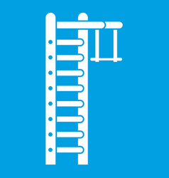 swedish ladder icon white vector image