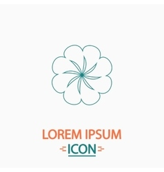 Swirl flower computer symbol vector