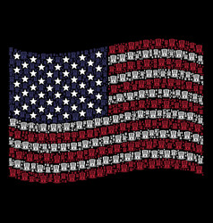 waving usa flag stylized composition of uncle sam vector image