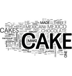 What kind of cakes are in mexico text word cloud vector