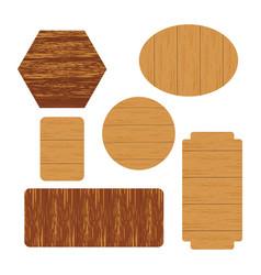 wooden label vector image