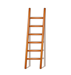 Wooden ladder with shadow vector