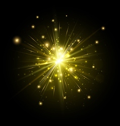 Yellow firework flash vector