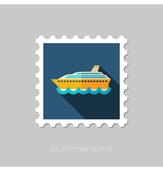 Cruise transatlantic liner ship stamp vacation vector