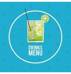 drinks menu cocktail mojito icon vector image