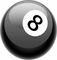eight ball illustration vector image vector image
